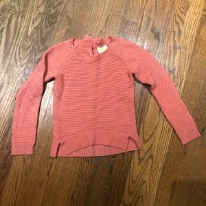 Crazy 8 Pink Peach 🍑 silver pullover sweater Sm